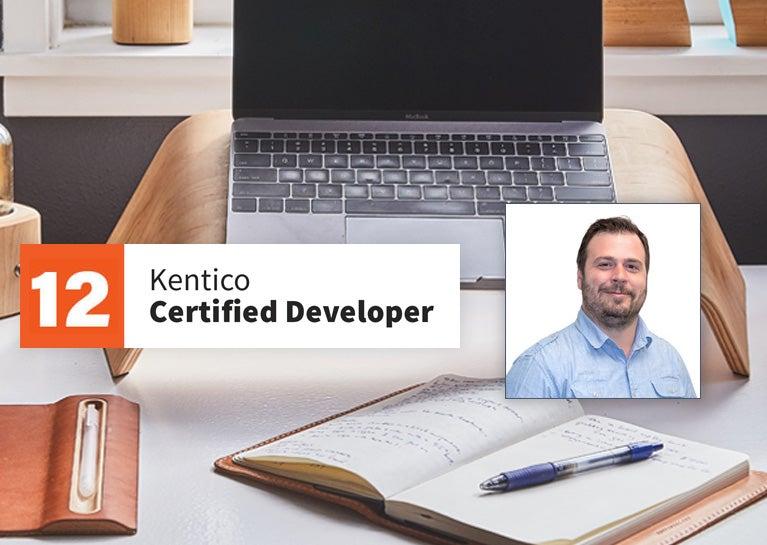 Aaron Brosey Adds Kentico 12 Developer Certification