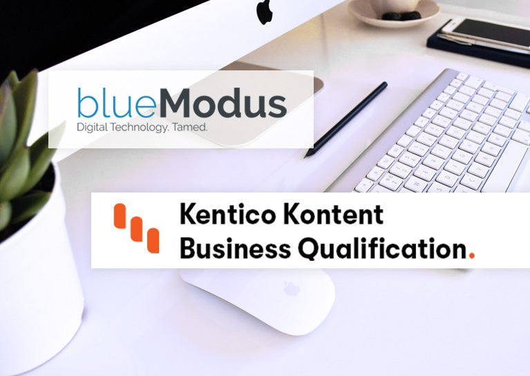 BlueModus Colleagues Earn Kentico Kontent Business Qualification
