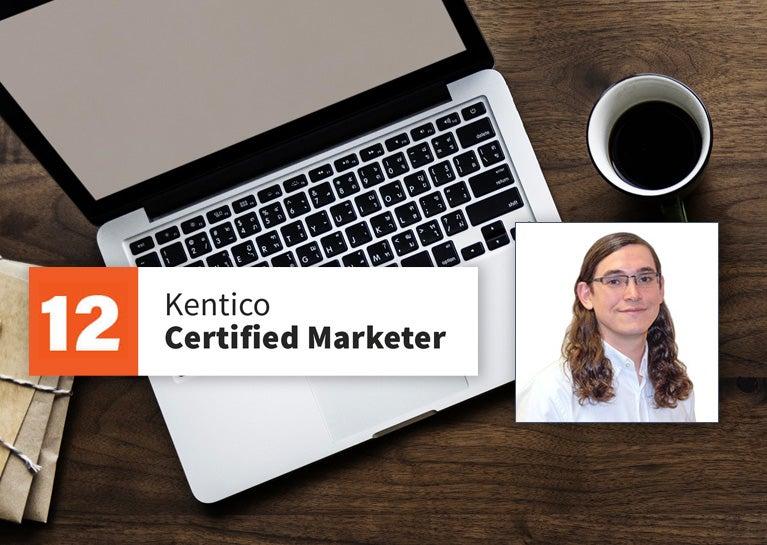 Josh Gray Adds Kentico Marketer Certification Credentials