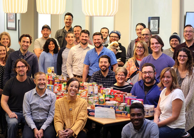 BlueModus Colleagues Come Together for Canned Food Drive