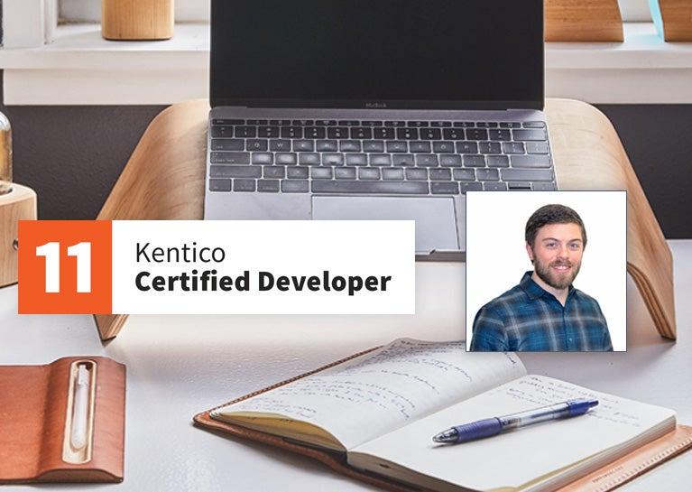 Jordan Walters Completes Kentico Developer Certification
