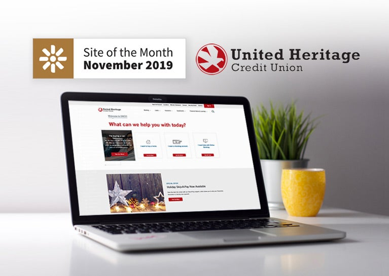 United Heritage Credit Union Project Awarded Kentico Site of the Month