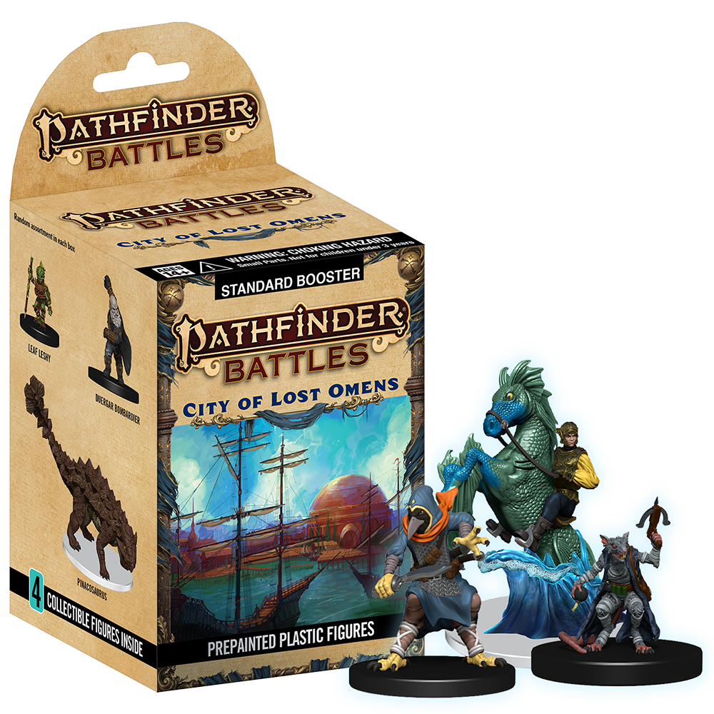 Pathfinder Battles City of Lost Omens packaging and models