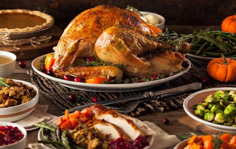 a beautiful thanksgiving dinner