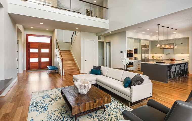 living room in a home