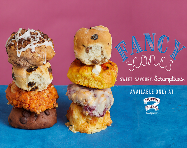 Head into Muffin Break to try their scrumptious new range of Fancy Scones! With 3 new Sweet & 3 new Savoury flavours, the hardest part will be choosing which ones! Available in store for a limited time only.