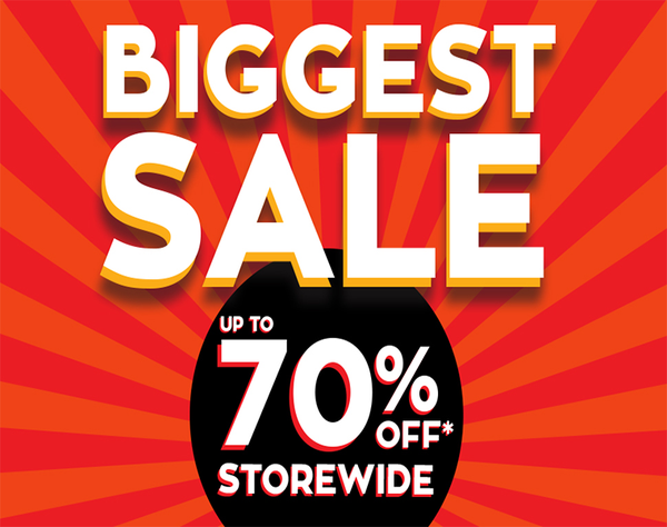 Shiels' BIGGEST EVERYTHING SALE with huge savings of Up to 70% off storewide*! *Terms and Conditions Apply – see website for details