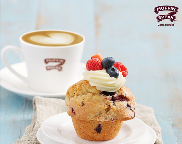 Some things just go better together. Pop into Muffin Break and receive a delicious coffee with a freshly baked muffin for $8.00.