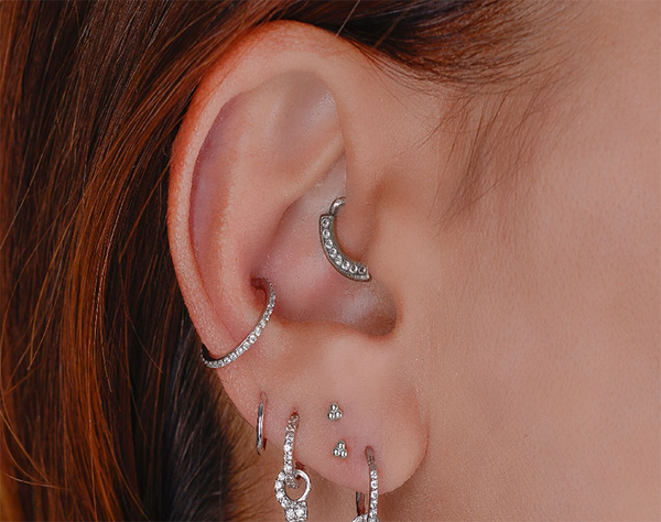 Bring your piercing ideas to life at Essential Beauty! With decades of experience, Essential Beauty's Piercing Specialists offer the best in professional body piercing and jewellery to help design your dream piercing style! Mix up your look with their custom range of body jewellery in all metals, shapes, sizes and designs!