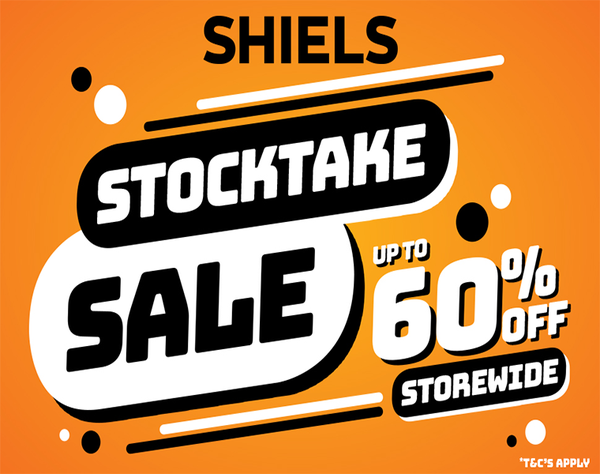 Shiels Stocktake Sale – with huge savings of up to 60% off storewide! *Terms and Conditions Apply