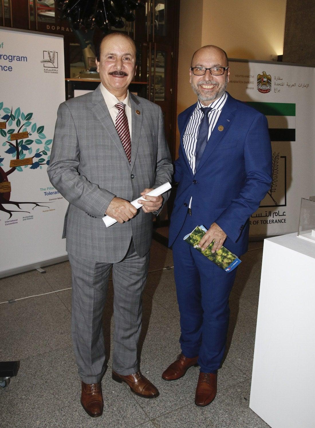 J.E. Abdulla Almaainah s Petrem Hladíkem, ředitelem Odboru států Blízkého východu a severní Afriky MZV ČR.