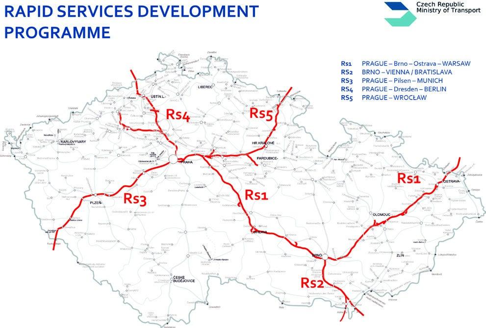 Program rozvoje rychlých železničních spojení v ČR.