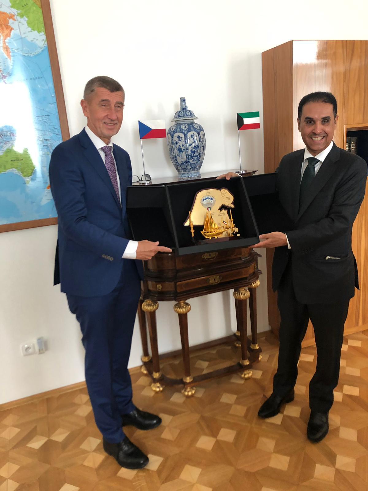 Rashed Al Hajri s českým premiérem Andrejem Babišem.