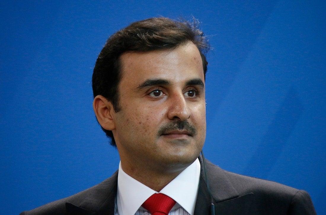 Katarský emír, šejch Tamím bin Hamad Ál Thání.