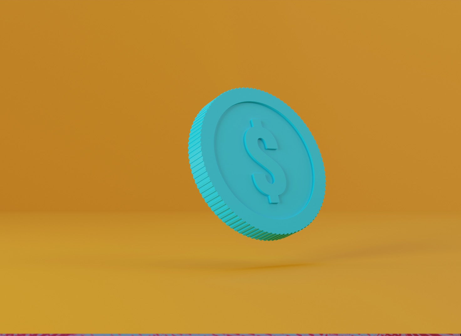 floating coin