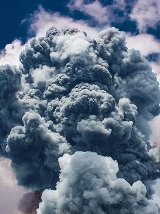 Exploding volcano