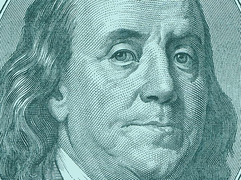 Benjamin Franklin judging image
