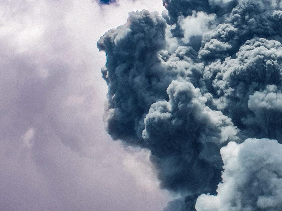 apocalyptic smoke & explosion