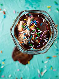 icecream chocolate topping
