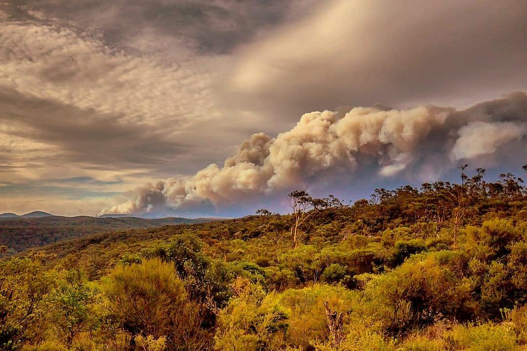 Smoke Gospers mountain fire