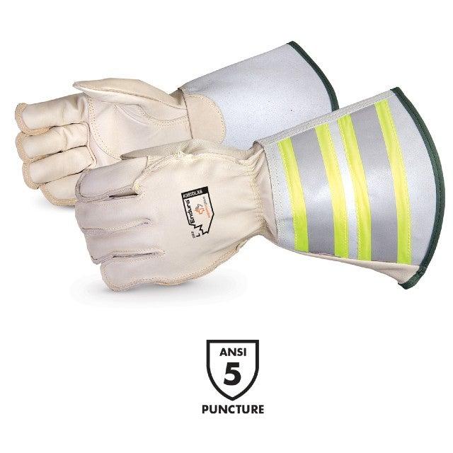 SUP 365DLX6 - Endura Lineman Glove Deluxe HI-VIZ