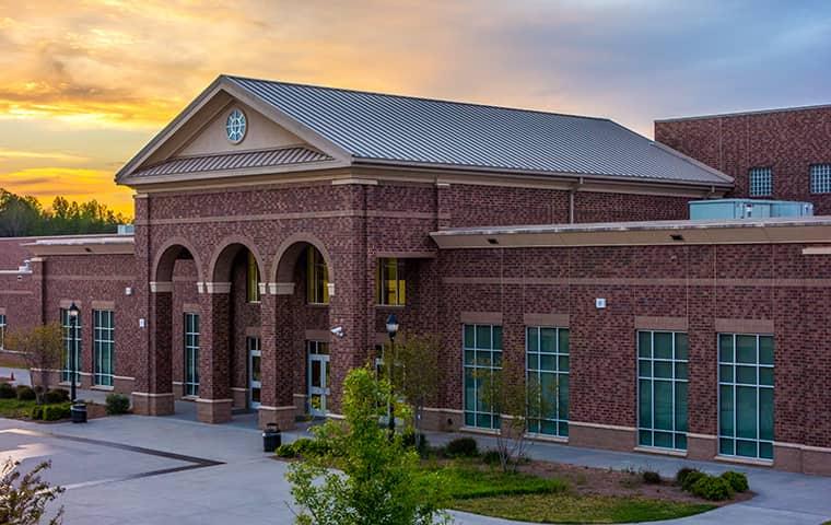 a big brick school building