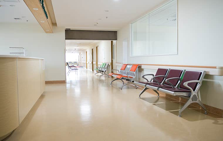 the hallway in a medical facility