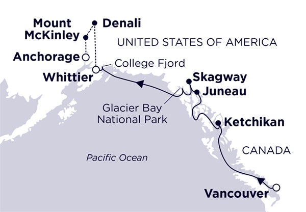 Vancouver to Whittier