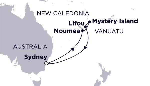 Sydney, Noumea, Mystery Island & Lifou