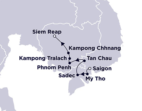 Saigon to Siem Reap with Cruiseco Adventurer