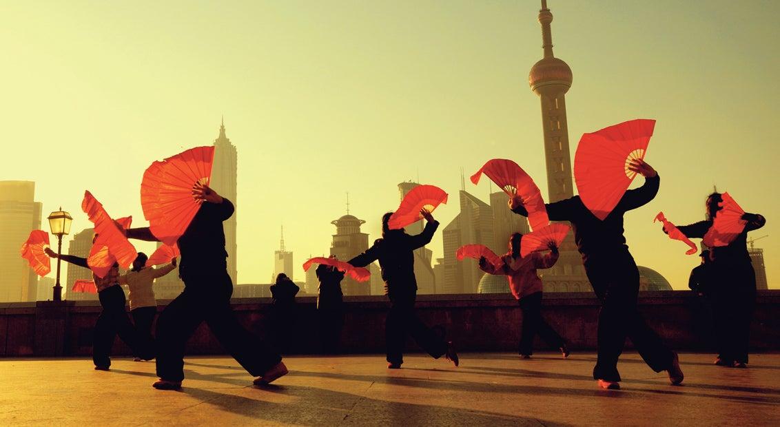Ladies dancing in Shanghai