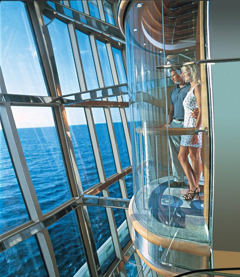 Radiance of the Seas Glass Elevator