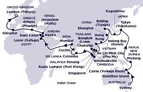 Australia,Papua New Guinea,Japan,China,Vietnam,Thailand,Cambodia,Malaysia,Sri Lanka,India,Jordan,Egypt,Israel,Greece,UK