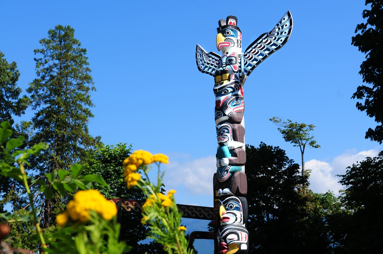 Vancouver Canada Totem in Stanley Park