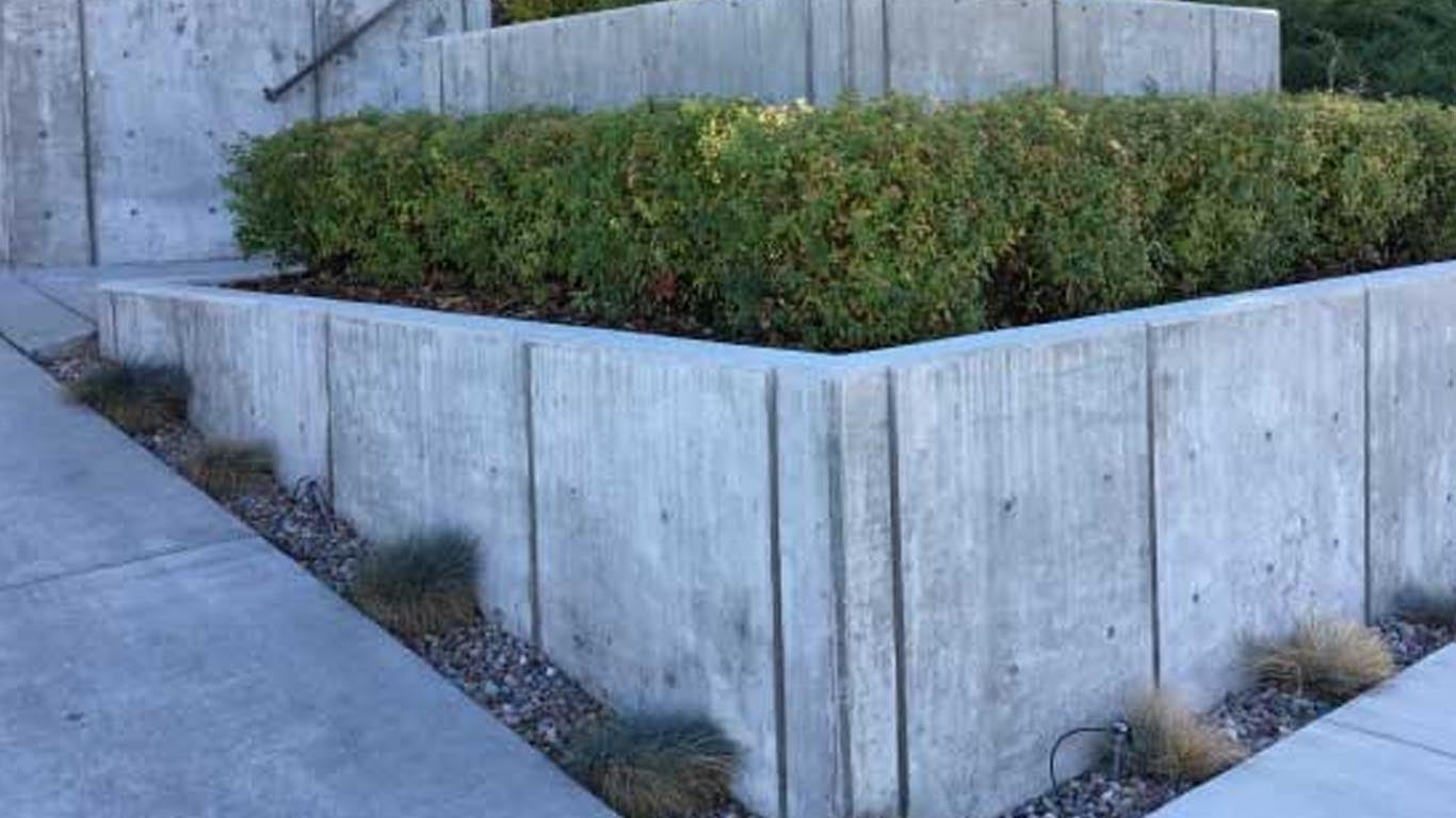 Concrete retaining walls in Seattle