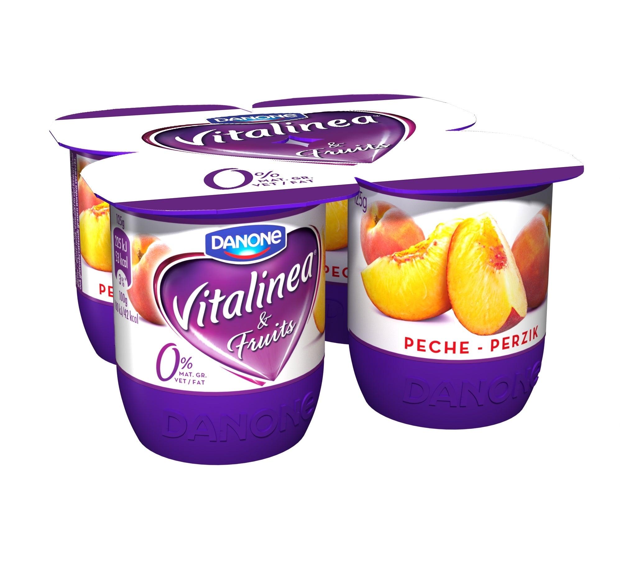 Vitalinea Yoghurt Perzik 0% 4x125g