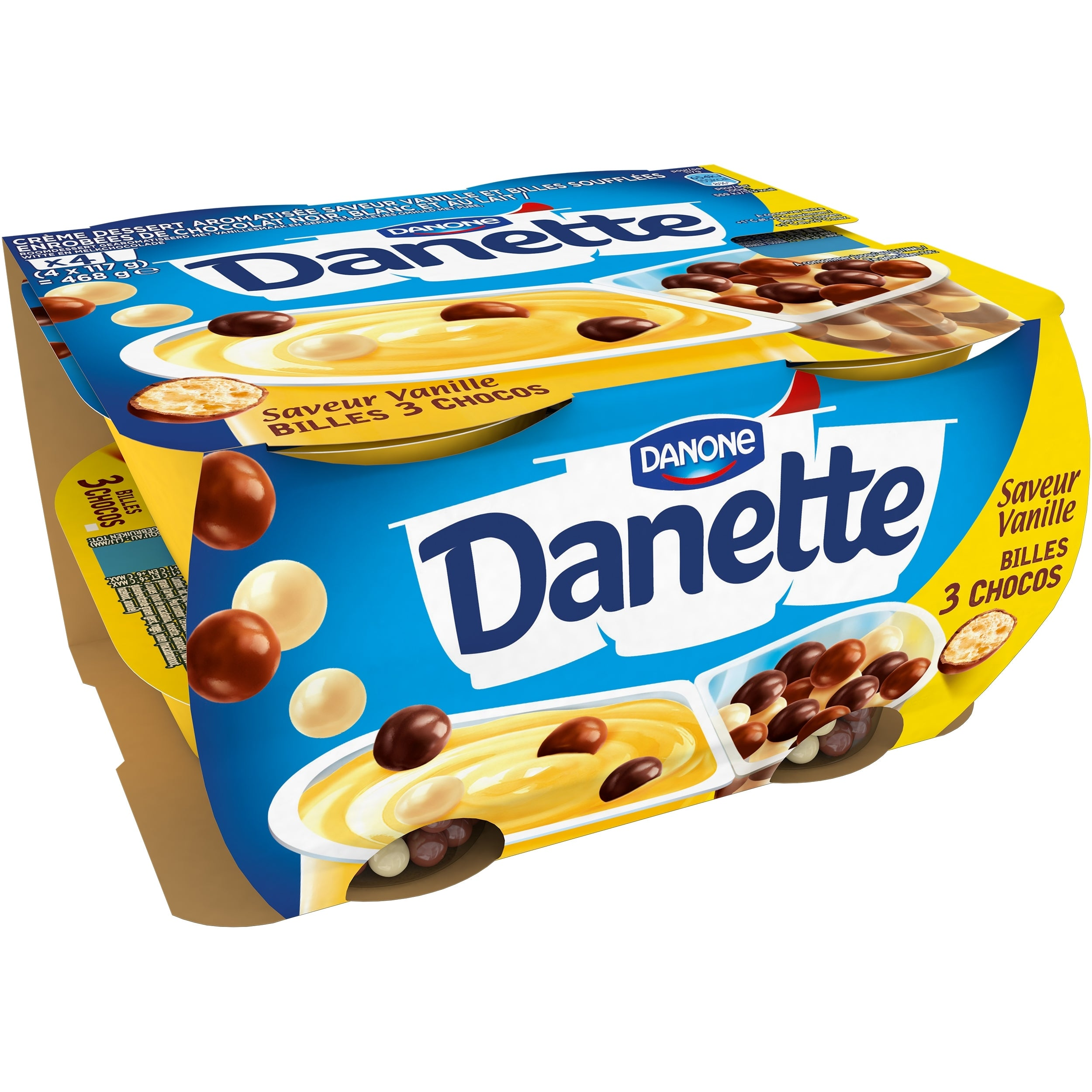 Danette POP Vanille 4x117g