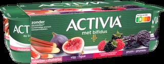 Activia Fruit - Rabarber Vijg  Braambes en Framboos  Pruim
