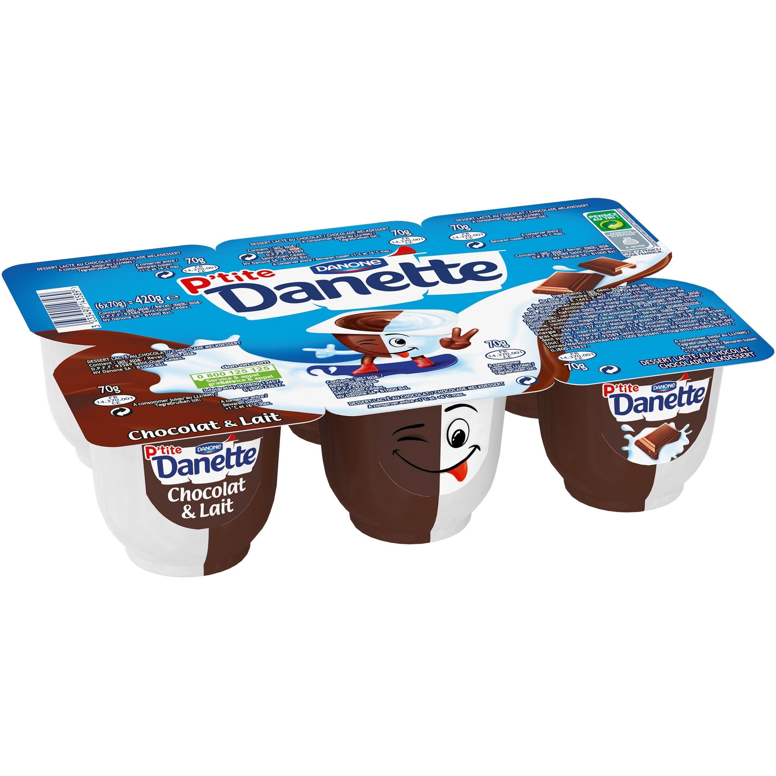 P'tite Danette Chocolat & Lait 6x70g