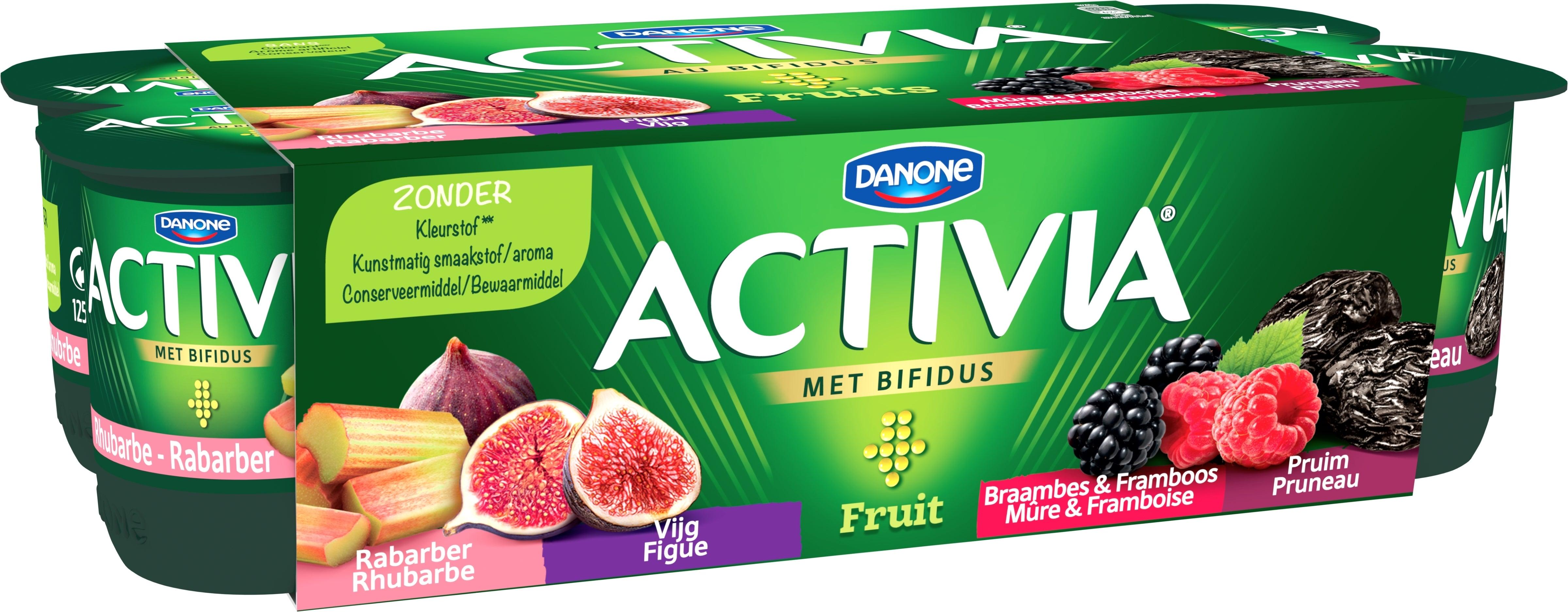 Activia Fruit - Rhubarbe Figue Mûre & Framboise Pruneau