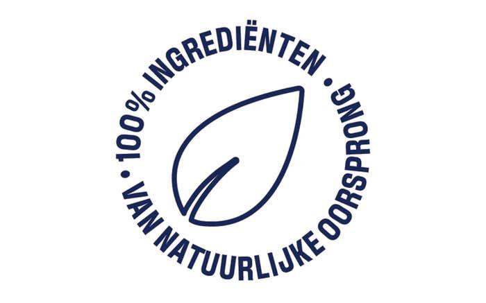 100% ingrediënten van natuurlijke oorsprong