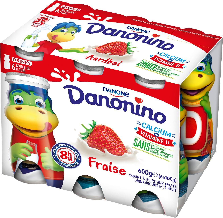 Danonino Drink Aardbei 6x100g