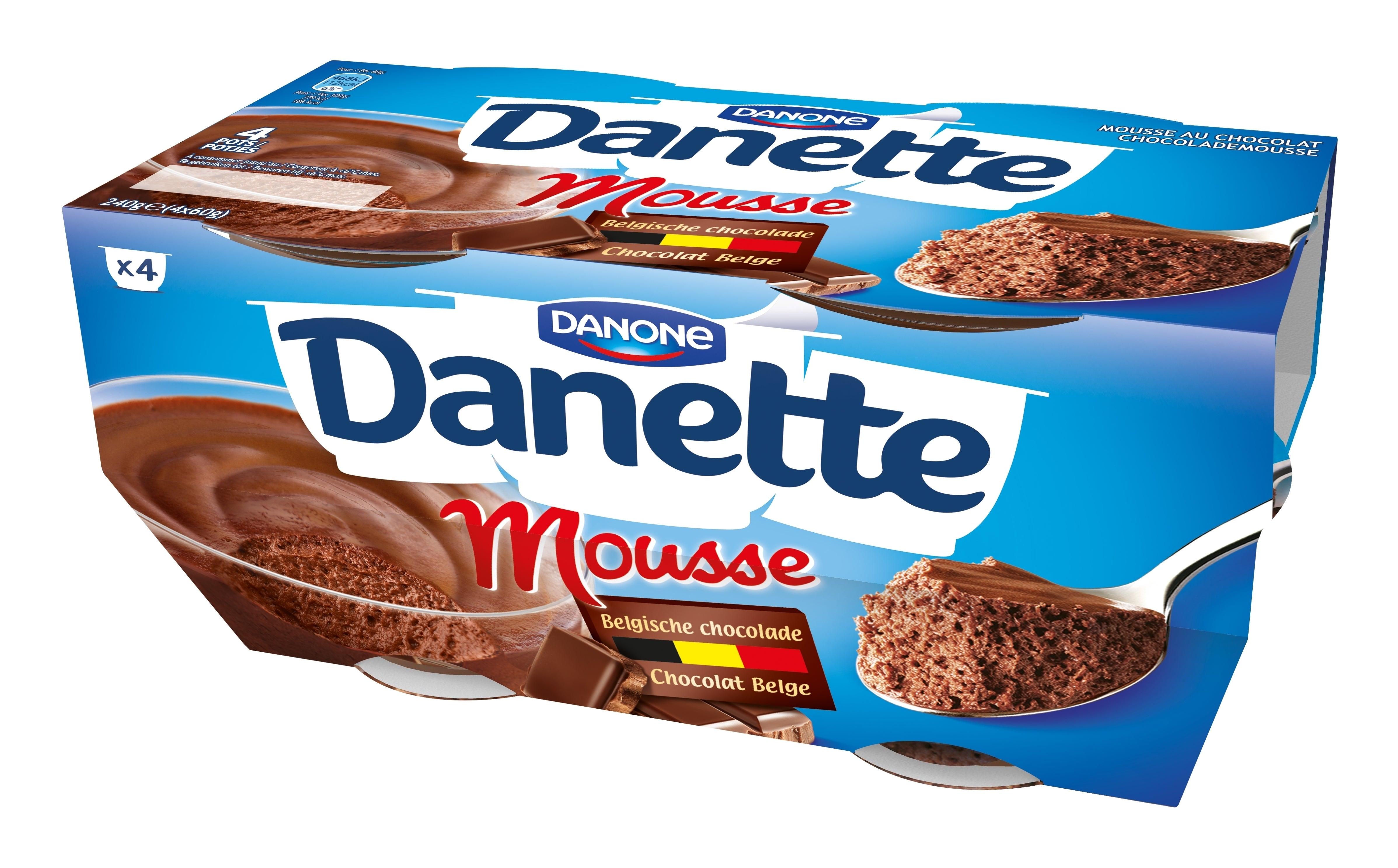 Danette Mousse au chocolat 4x60g
