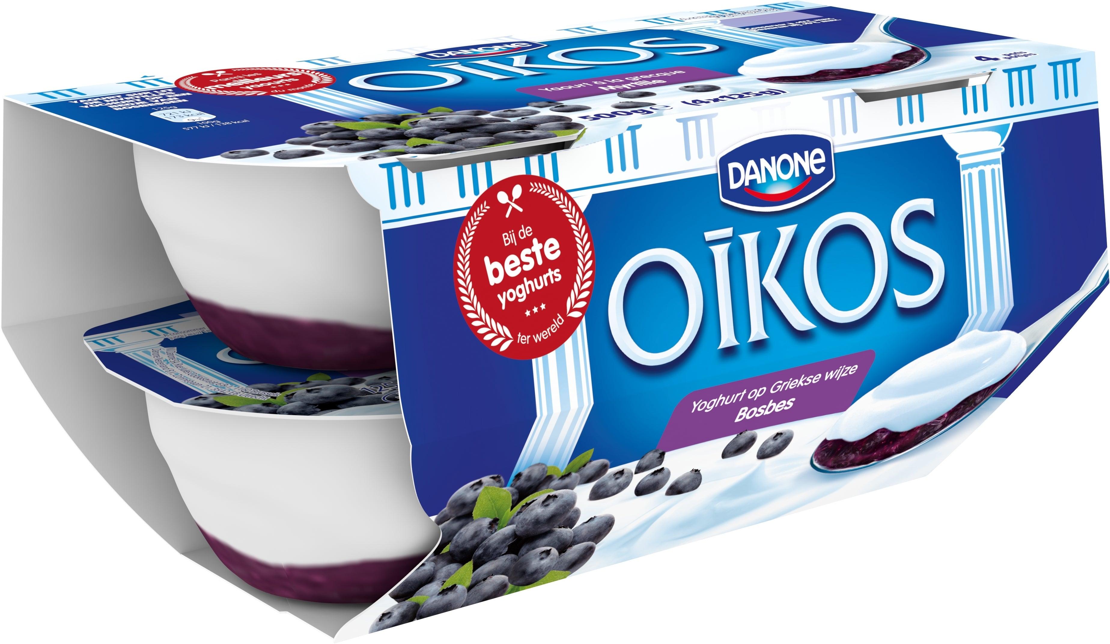 Oikos Yoghurt Vol Bosbes 4x125g