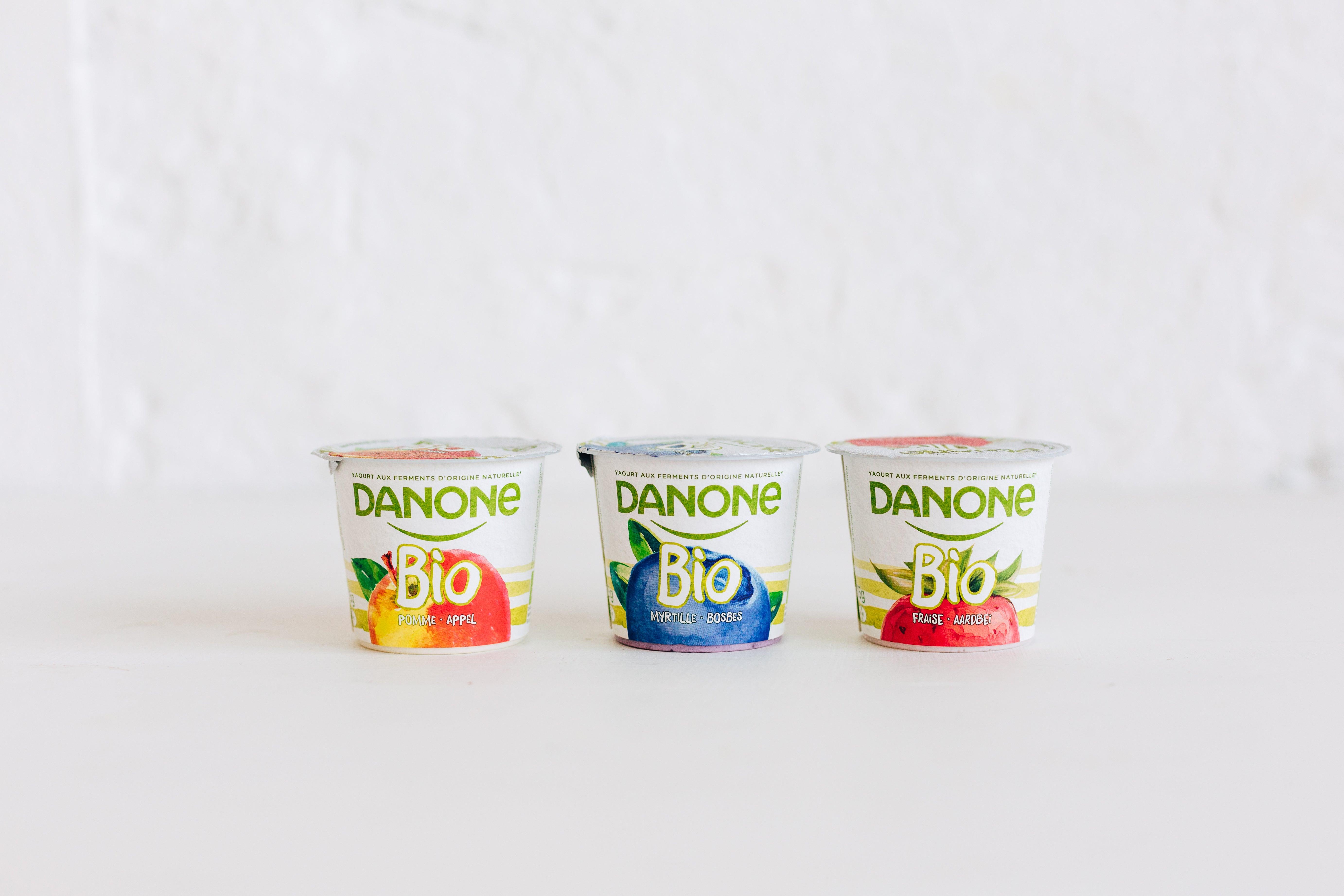 Ontdek de heerlijk fruitige smaak en de smeuïge textuur van Danone Bio