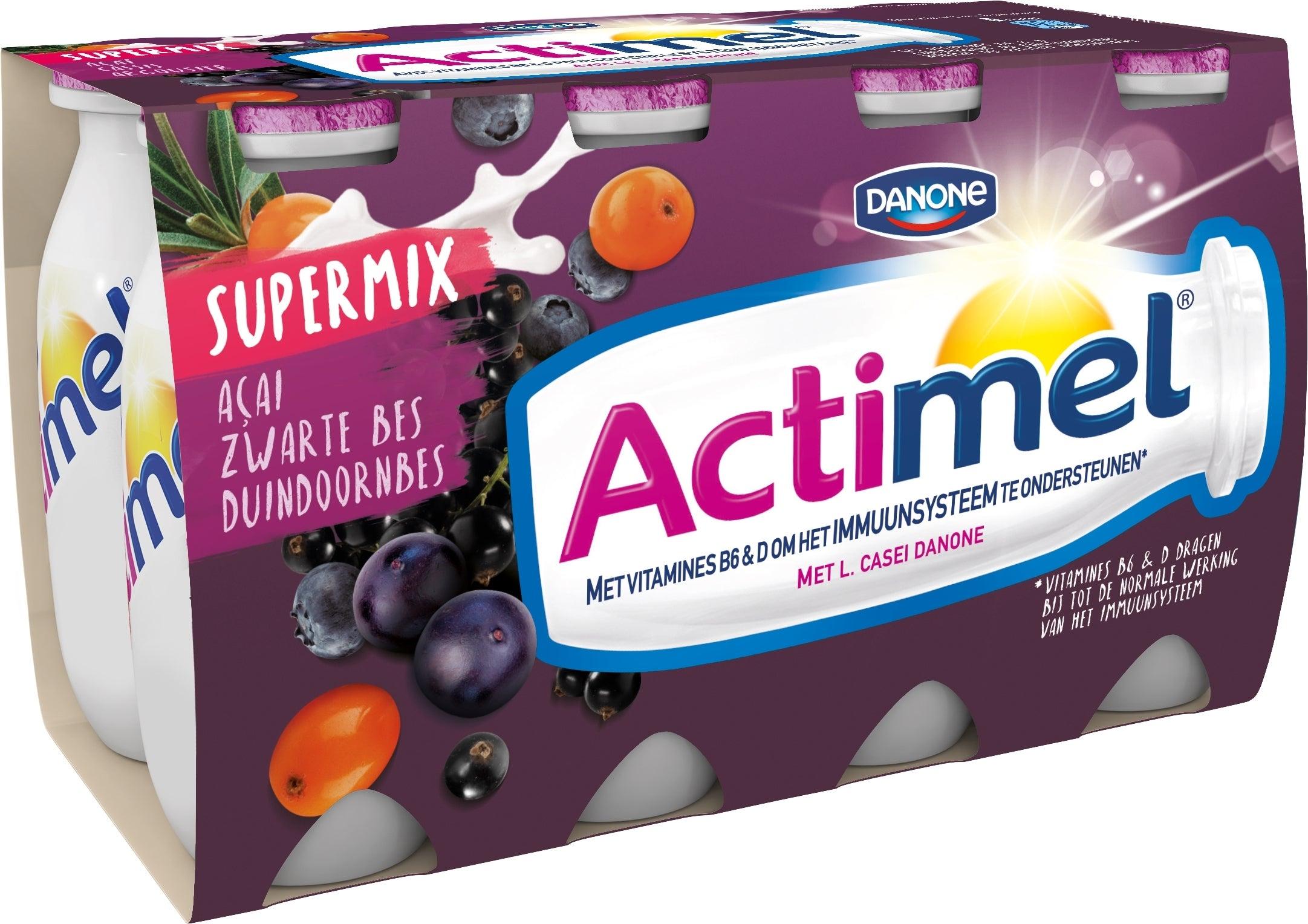 Actimel Drink 8x100ml met mix van blauwe bessen