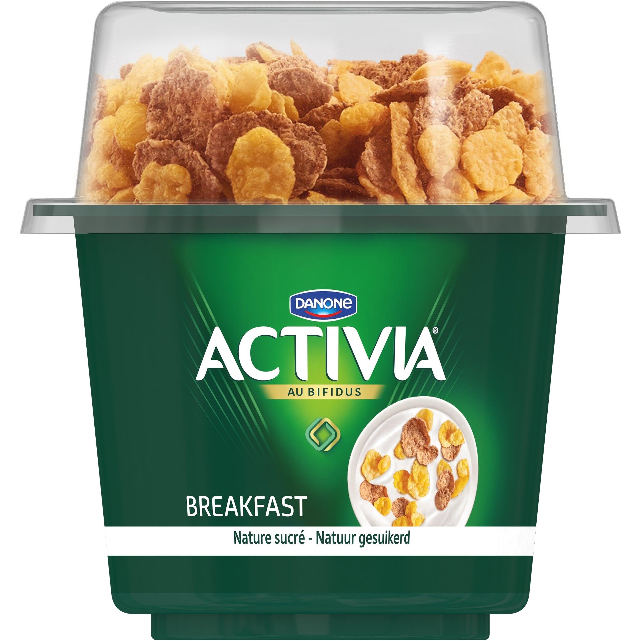 Activia Breakfast Nature sucré 170g + 20g