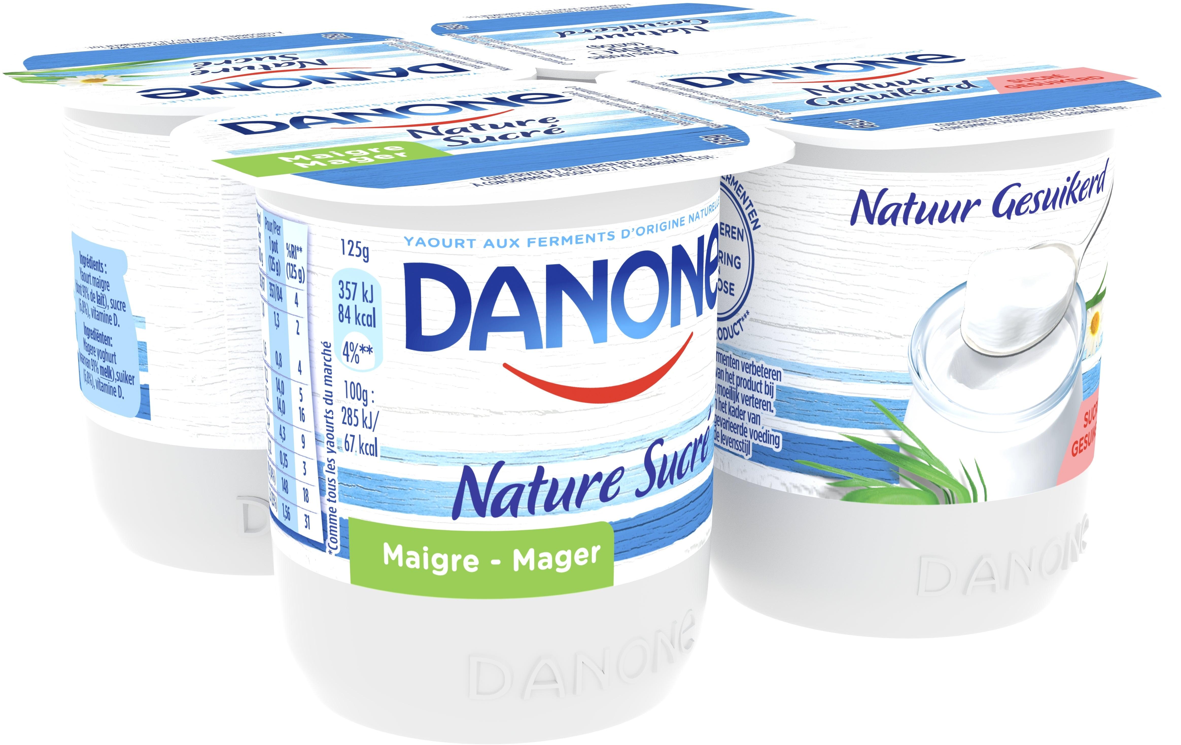 Danone Magere Yoghurt 4x125gr Gesuikerd
