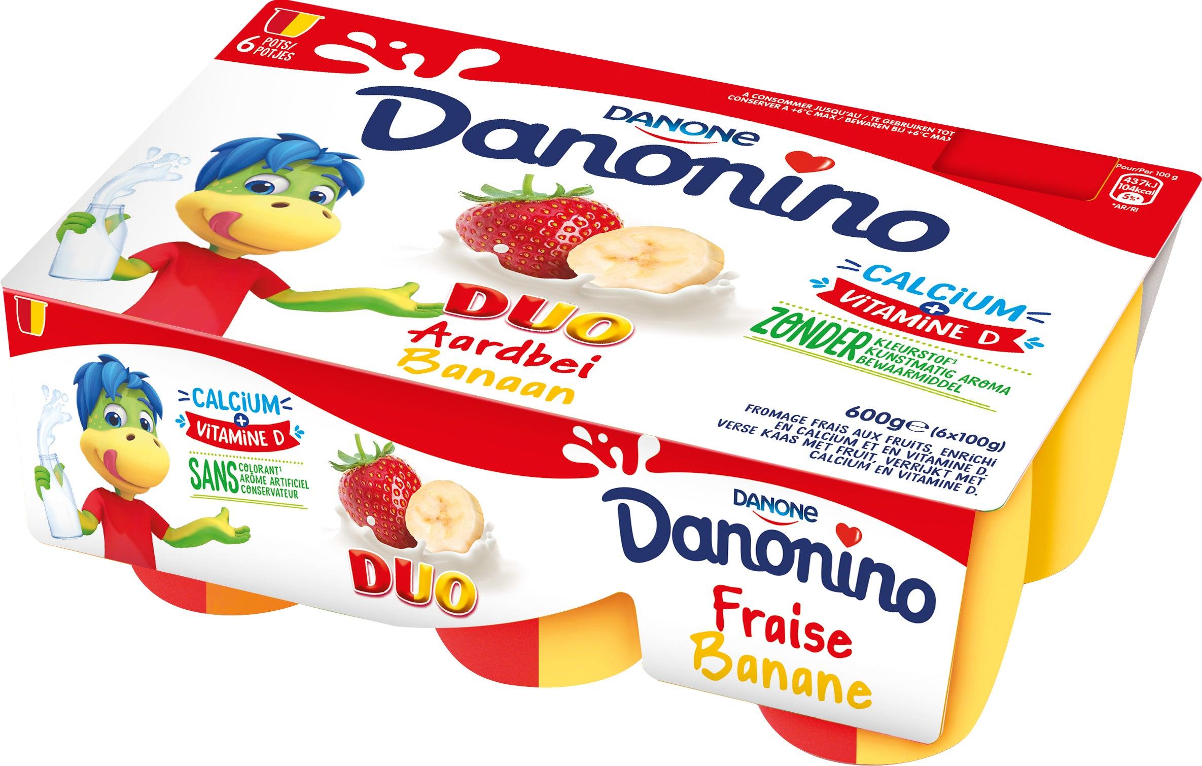 Danonino Duo Aardbei/Banaan 6x100g