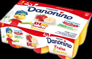 Danonino Duo Aardbei Banaan